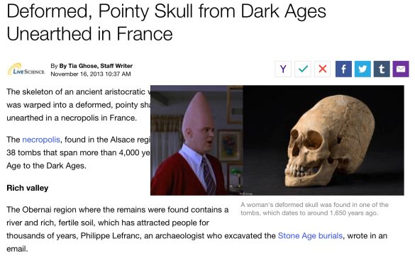 Coneheads found in ancient burial site